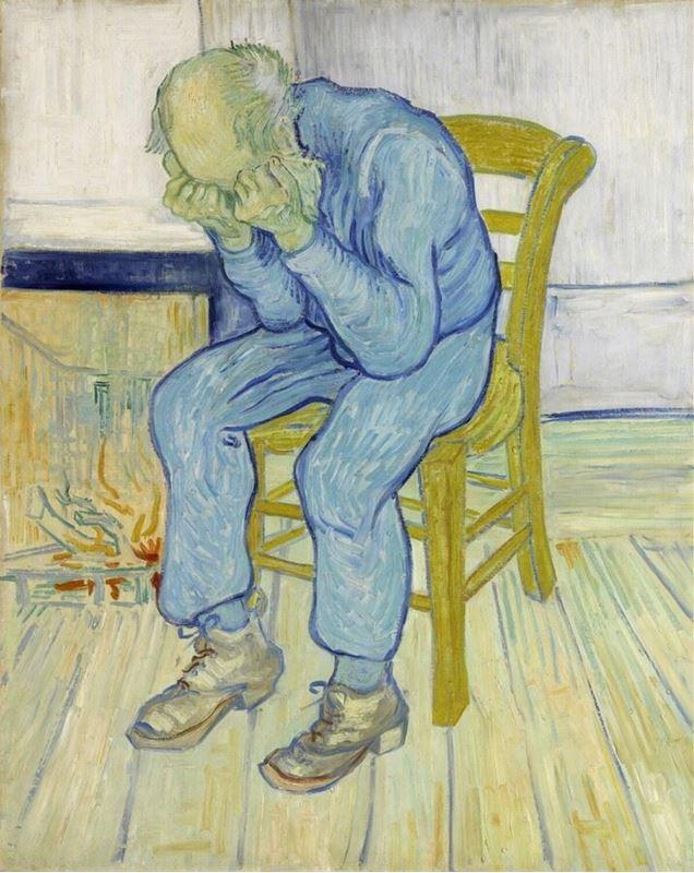 Üzgün Yaşlı Adam, 1890 resmi