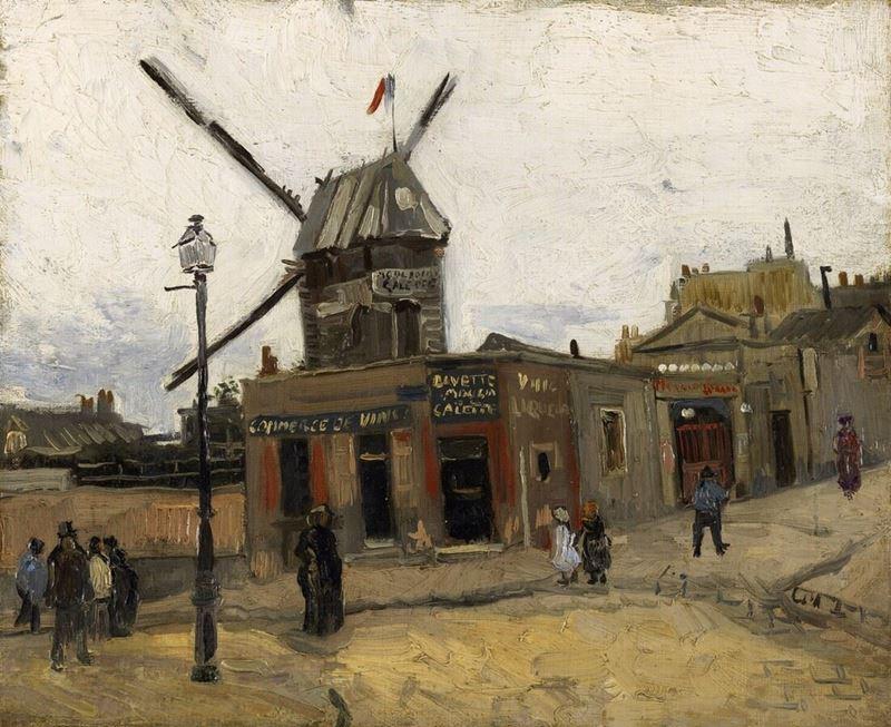 Moulin de la Galette, 1886 resmi