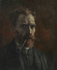 Show Self-Portrait with Pipe, 1886 details