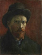 Show Self-Portrait with Felt Hat, 1886 details