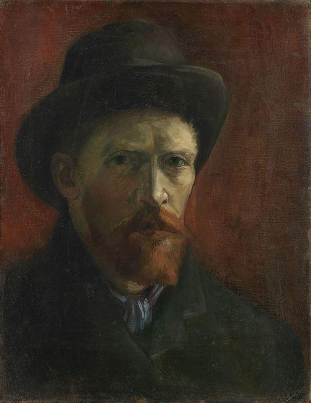 Fötr Şapkalı Otoportre, 1886 resmi