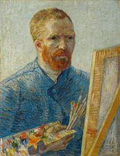 Show Self-Portrait as a Painter, 1887-1888 details