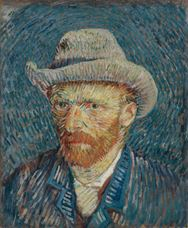 Show Self-Portrait with Grey Felt Hat, 1887 details