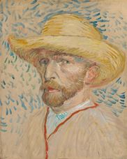 Show Self-Portrait with Straw Hat, 1887 details