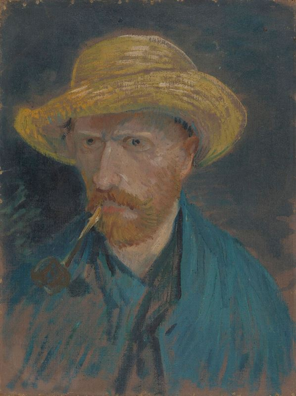 Picture for Self-Portrait with Straw Hat and Pipe, 1887