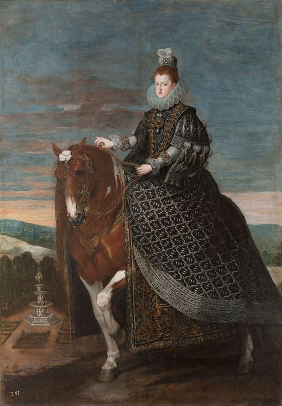 Kraliçe Margarita At Sırtında, 1635 dolayları resmi