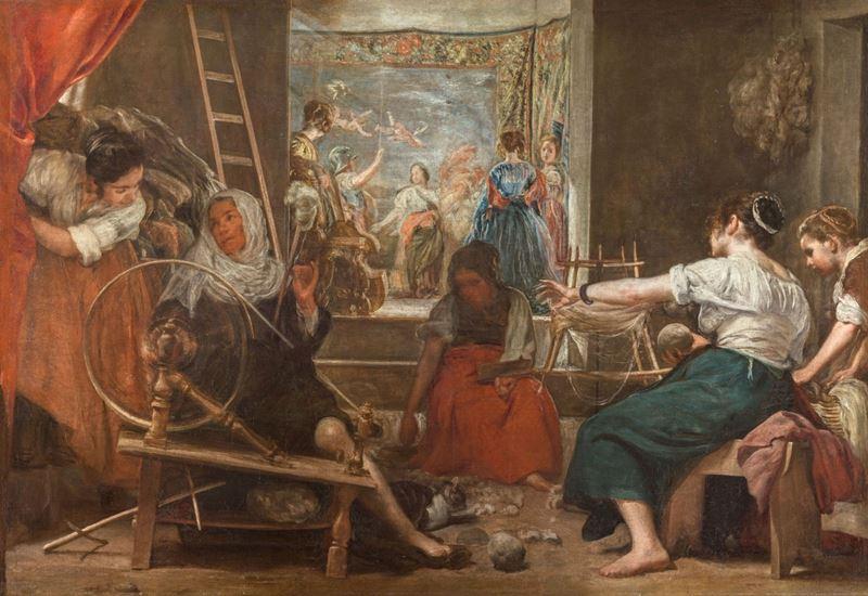 Arakhne Öyküsü (Las Hilanderas), 1655-1660 resmi