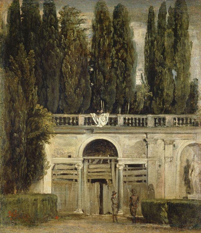 Villa Medici Bahçeleri'nin Görünümü, Roma, 1630 dolayları resmi