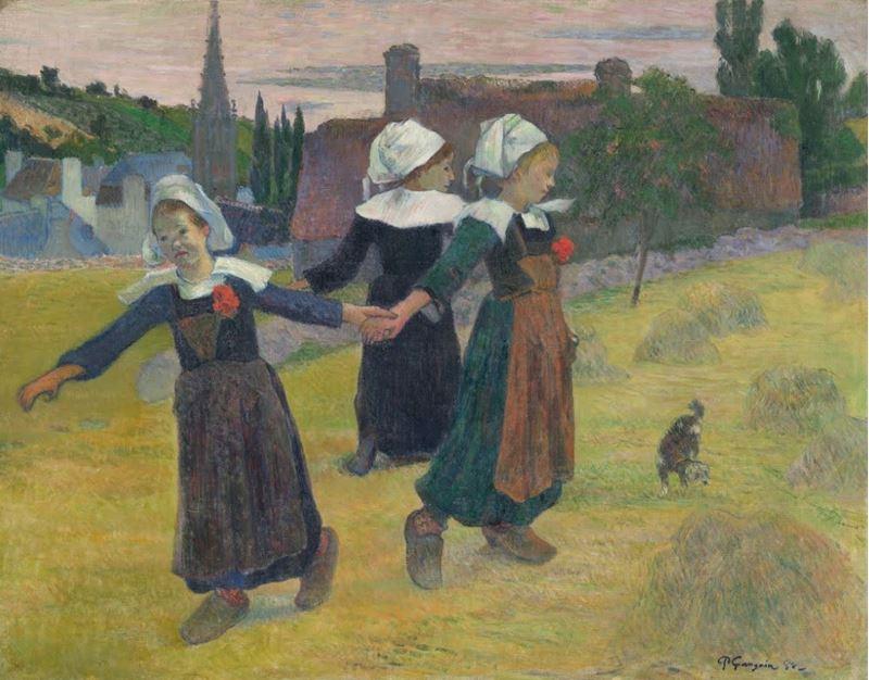 Dans Eden Breton Kızlar, 1888 resmi