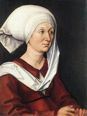 Show Portrait of Barbara Dürer, 1490 details