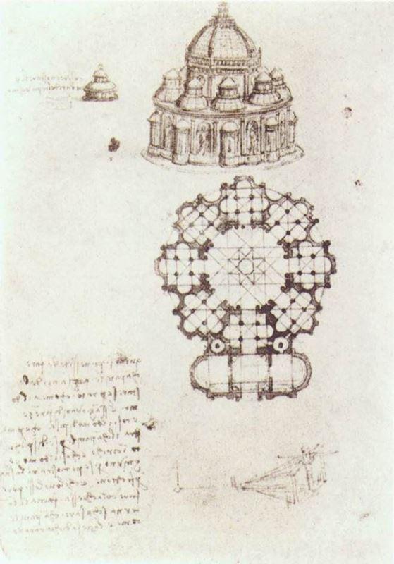 Picture for Merkezi planlı kilise görünüm ve planı, 1488 dolayları