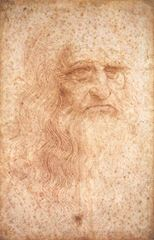 Otoportre, 1513 dolayları, Kırmızı tebeşir, 33.2 x 21.2 cm, Biblioteca Reale, Torino, İtalya.