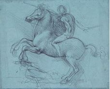 Show Study for the Sforza Monument, c. 1485-1490 details