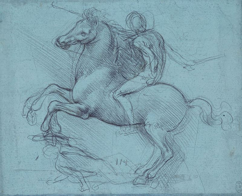 Picture for Study for the Sforza Monument, c. 1485-1490