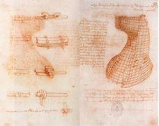 Sforza Anıtı üzerine çift el yazma sayfası, 1493 dolayları