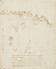Son Akşam Yemeği taslağı, 1494 dolayları, Kalem ve mürekkep, 26 x 21 cm, Royal Collection, Windsor Castle, İngiltere.