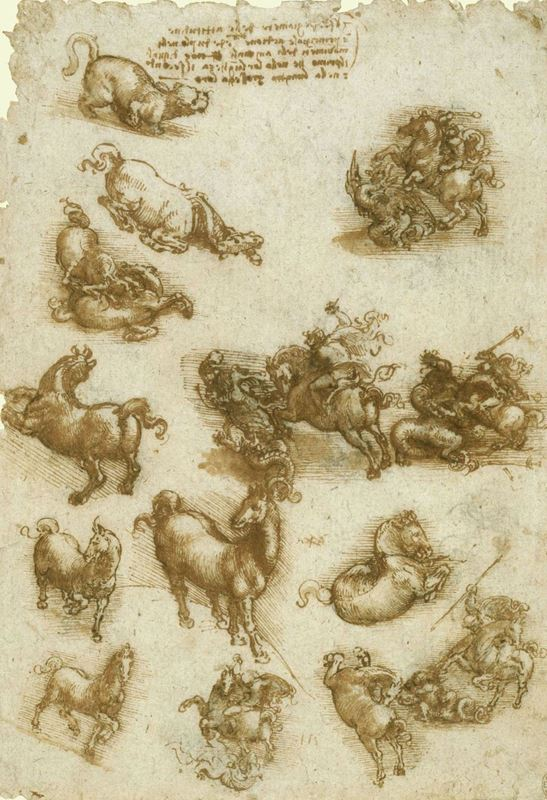 Picture for Horses, St George and the Dragon, and a Lion, c. 1517-1518