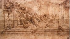 Show Perspective Study For The Background Of The Adoration Of The Magi, c. 1481 details