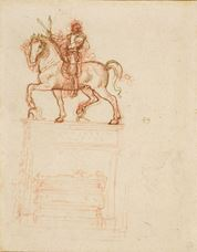 Show Study for the Trivulzio Monument, c. 1508-1510 details