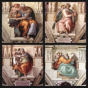 Picture of The Sistine Chapel: Prophets and Sibyls - Michelangelo Buonarroti
