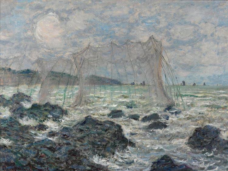 Pourville'de Balık Ağları, 1882 picture