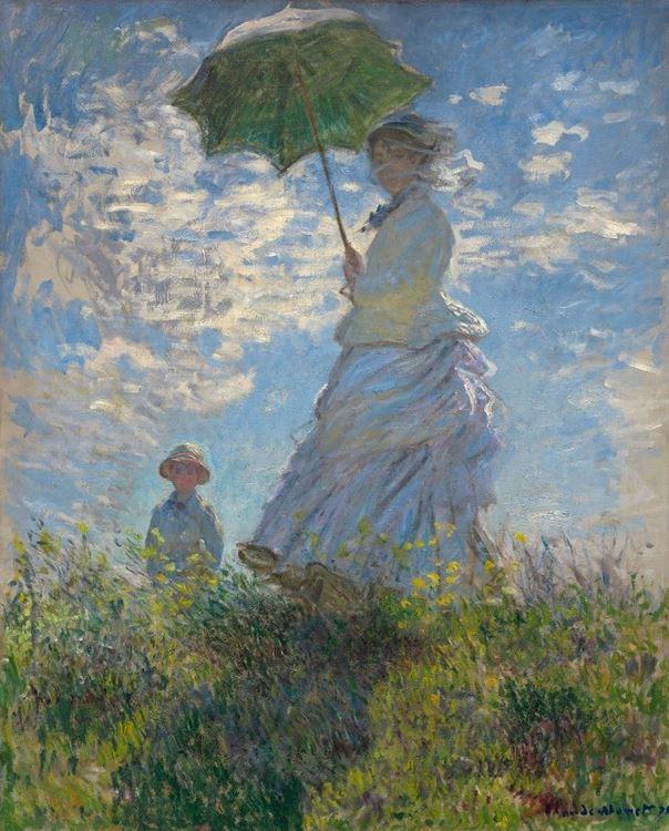 Şemsiyeli Kadın, Madam Monet ve Oğlu, 1875 picture