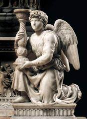 Şamdan Taşıyan Melek, 1494-1495, Mermer, 51.5 cm, Basilica of San Domenico, Bologna, İtalya.