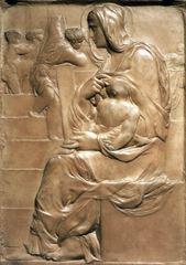 Merdivenler Meryemi, 1490 dolayları, Mermer, 56.7 x 40.1 cm, Casa Buonarroti, Florence, İtalya.