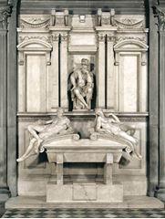Lorenzo de'Medici'nin Mezarı, 1526-1531, Mermer, Sagrestia Nuova (Yeni Mezarlık), San Lorenzo, Florence, İtalya.