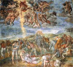 Paulus'un Din Değiştirmesi, 1542-1545, Fresk, 625 x 661 cm, Cappella Paolina, Rome, İtalya.