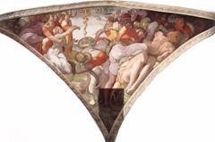 Musa ve Tunç Yılan Meseli, Sistine Şapeli tavanından ayrıntı.