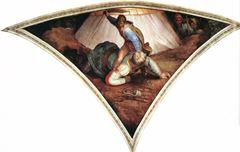 Davud'un Golyat'ın Başını Kesmesi, Sistine Şapeli tavanından ayrıntı.