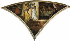 Yudit'in Holofernes'in Başını Kesmesi, Sistine Şapeli tavanından ayrıntı.