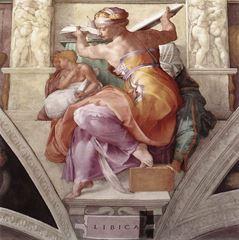 Libyalı Kâhin Kadın, Sistine Şapeli tavanından ayrıntı.