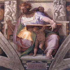 Daniel Peygamber, Sistine Şapeli tavanından ayrıntı.