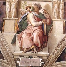 İşaya Peygamber, Sistine Şapeli tavanından ayrıntı.