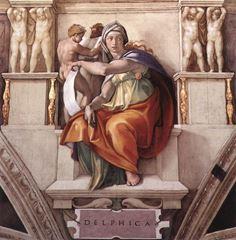Delphli Kâhin Kadın, Sistine Şapeli tavanından ayrıntı.
