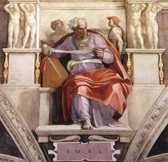 Yoel Peygamber, Sistine Şapeli tavanından ayrıntı.