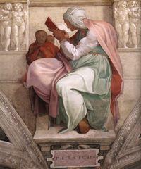 Persli Kâhin Kadın, Sistine Şapeli tavanından ayrıntı.