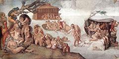 Tufan, Sistine Şapeli tavanından ayrıntı.