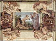 Havva'nın Yaratılışı, Sistine Şapeli tavanından ayrıntı.