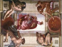 Suların ve Karaların Ayrılması, Sistine Şapeli tavanından ayrıntı.