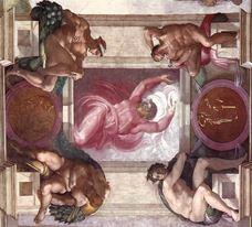 Aydınlıkla Karanlığın Ayrılması, Sistine Şapeli tavanından ayrıntı.