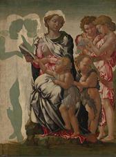 Meryem, Çocuk İsa, Vaftizci Yahya ve Melekler (Manchester Madonnası), 1497 dolayları