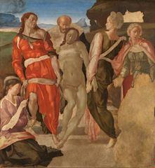 İsa'nın Mezara Konuluşu, 1500-1501 dolayları, Ahşap üzerine tempera, 161.7 x 149.9 cm, The National Gallery, London, İngiltere.
