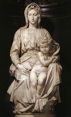 Brugge Madonnası, 1501-1504, Mermer, 200 cm, Onze-Lieve-Vrouwekerk, Bruges, Belçika.