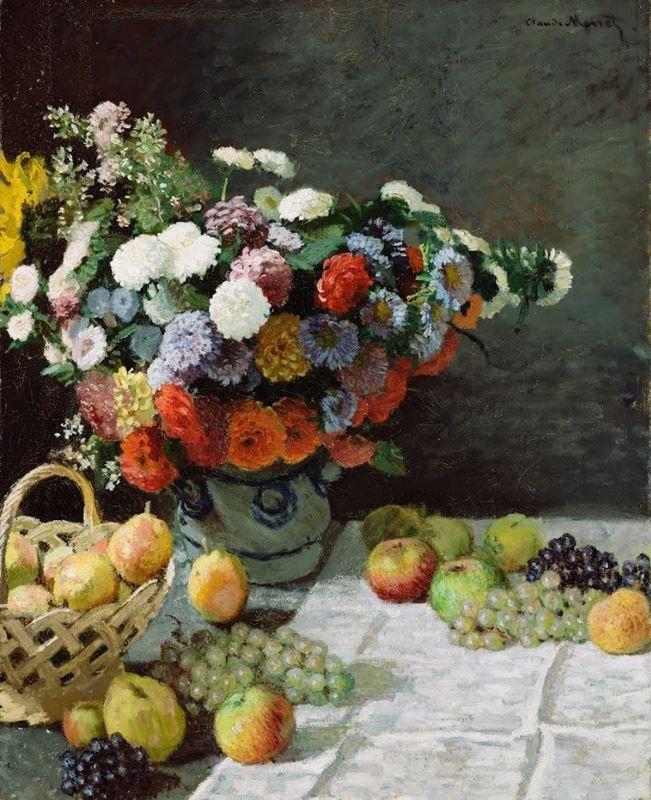 Çiçekli ve Meyveli Natürmort, 1869 resmi