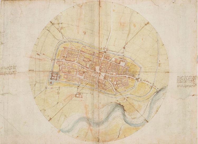 Imola'nın yerleşim planı, 1502 picture