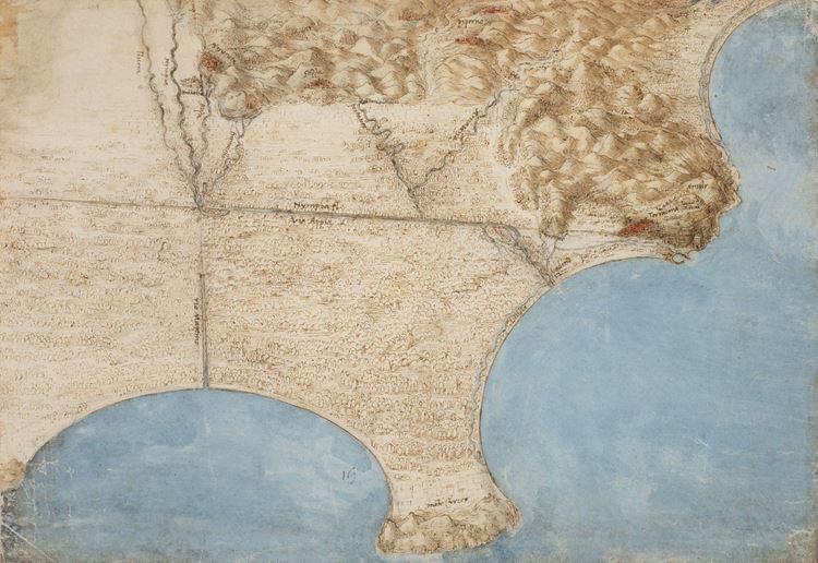 Pontini Bataklığı'nın haritası, 1515 picture