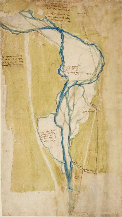 Floransa'nın batısındaki Arno haritası, 1504 dolayları picture